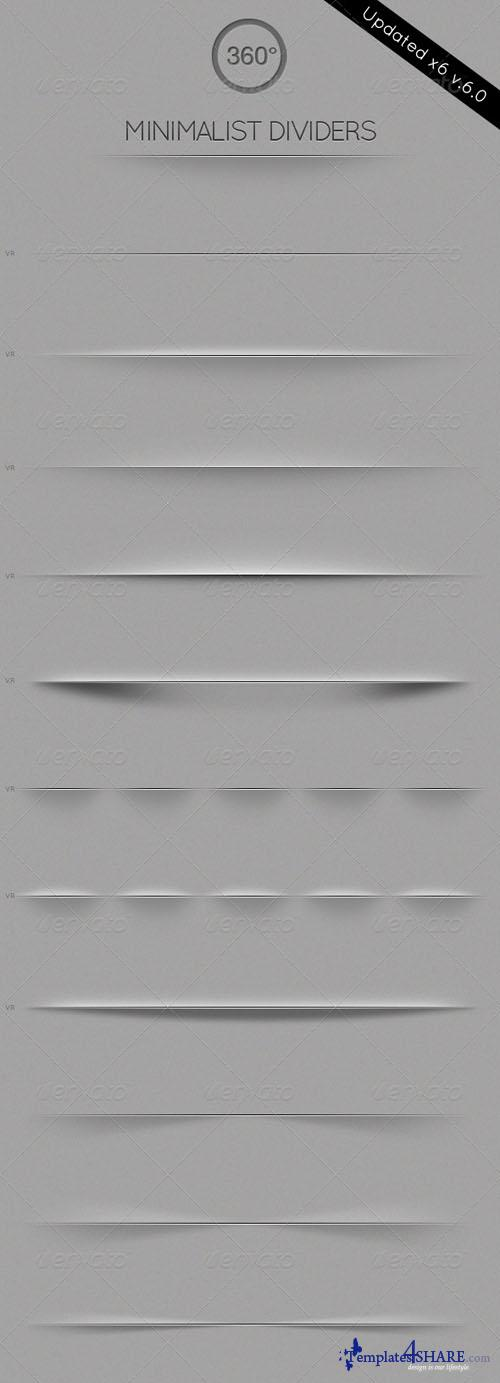 GraphicRiver Minimalist Dividers - Resizable
