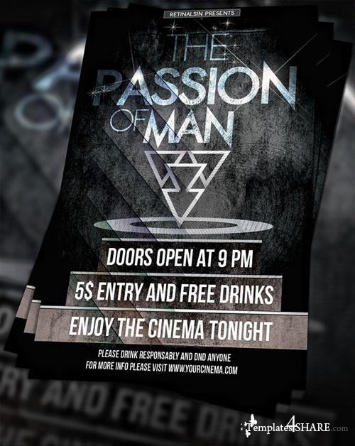 Free PSD Cinema Flyer
