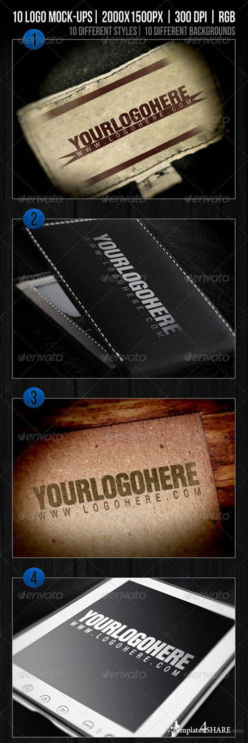 GraphicRiver 10 Logo Mockups Templates Vol.1