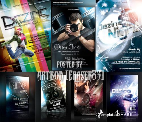 Flyer Poster Templates Bundle by DezineGuide