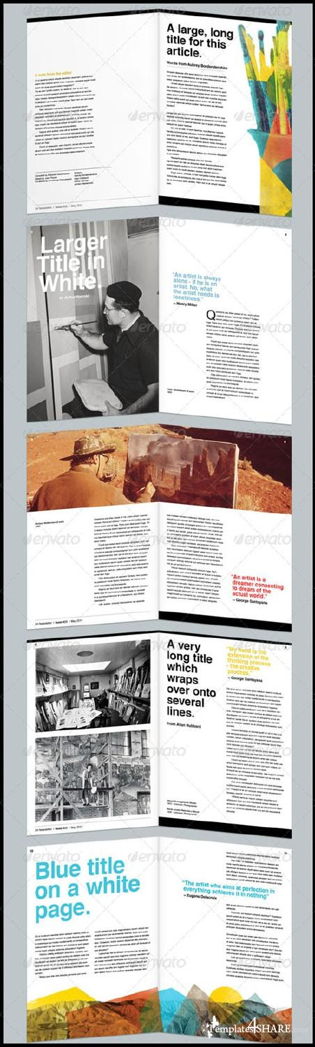 GraphicRiver Art Themed Newsletter/Magazine Template