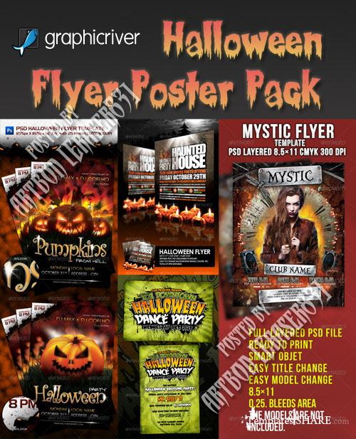 GraphicRiver Halloween Flyer/Poster Pack