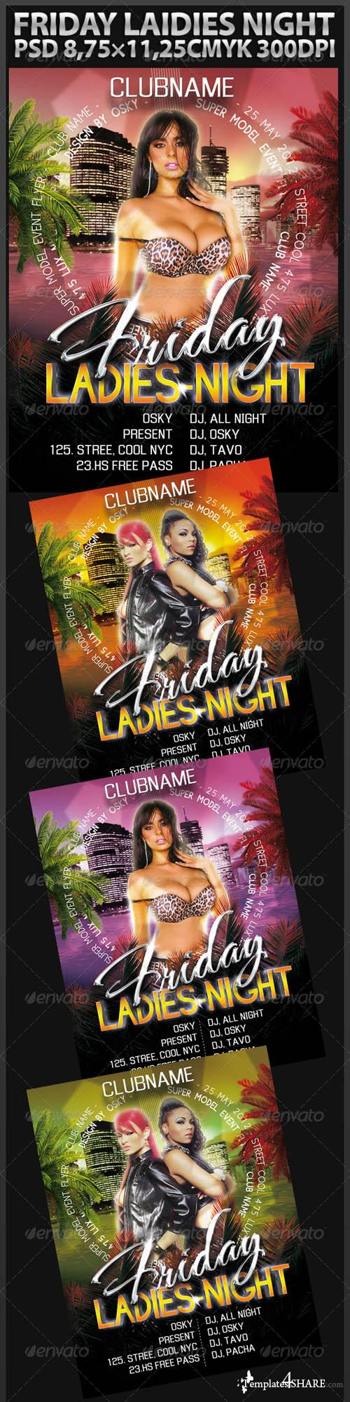 Graphicriver Friday Ladies Night