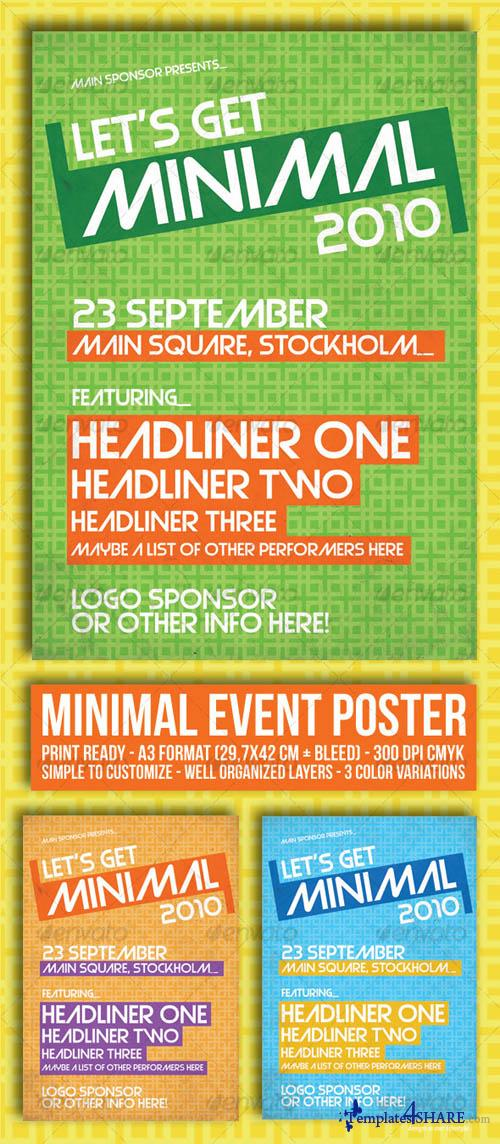 Graphicriver Minimal Event Poster