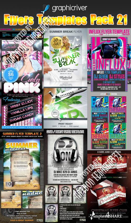GraphicRiver Flyers Templates Pack 21