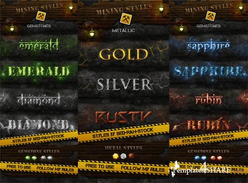 Mining Photoshop Styles Pack