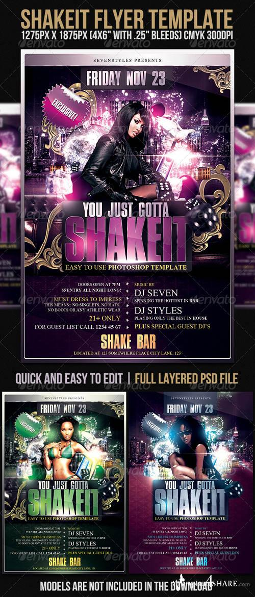 Graphicriver Shakeit Flyer Template