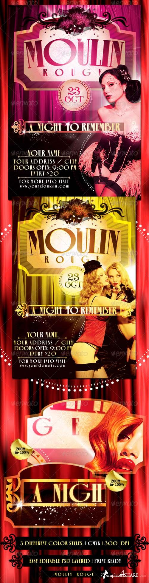 Graphicriver The Moulin Rouge Flyer Template