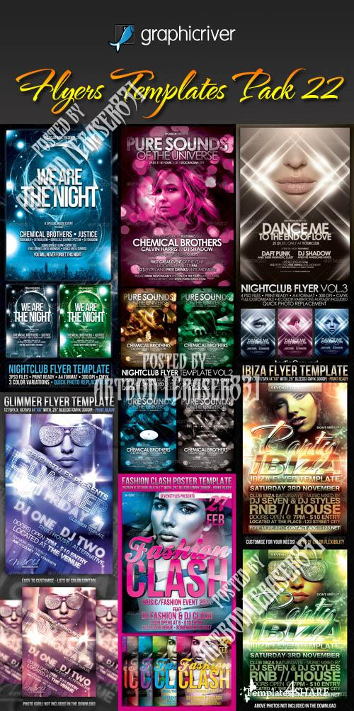 GraphicRiver Flyers Templates Pack 22