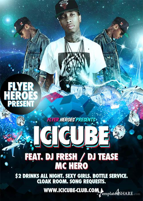 Icicube PSD Flyer Template