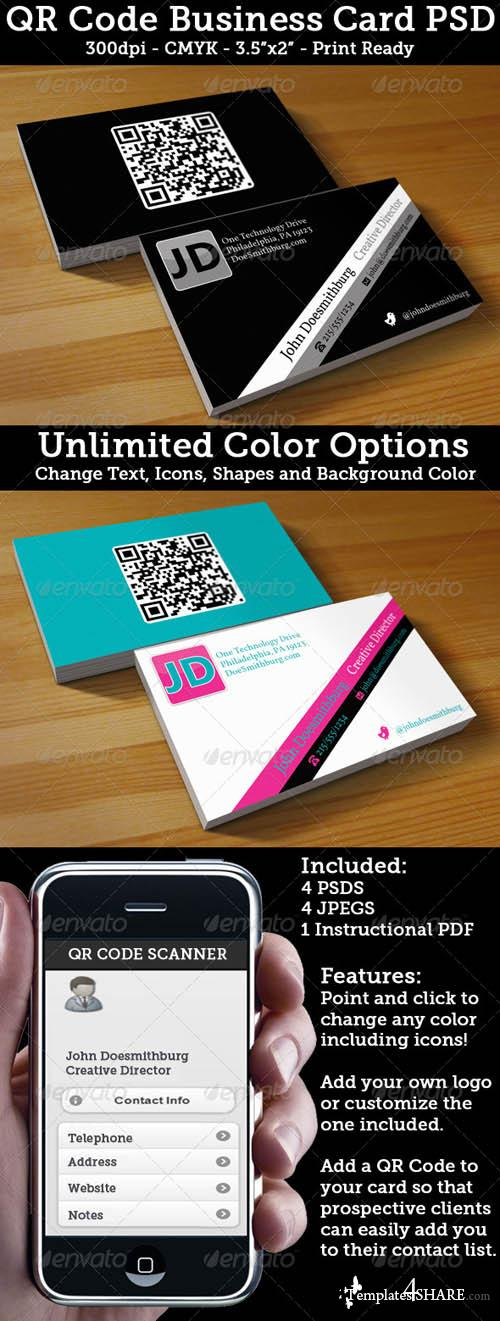 Graphicriver QR Code Business Card - Unlimited Colors