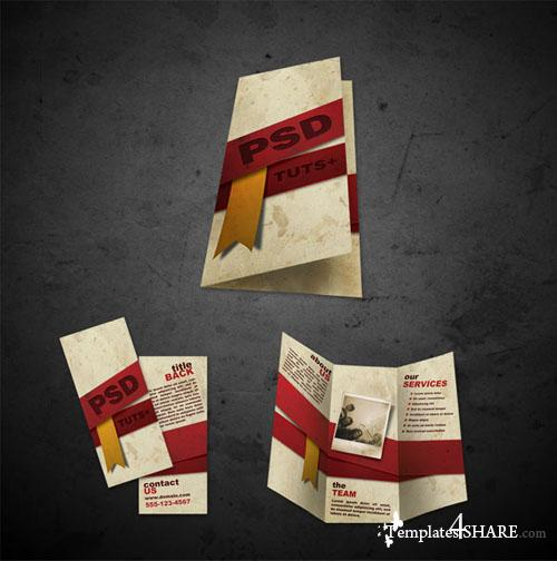 Free Brochure Templates .psd Files Front and Back