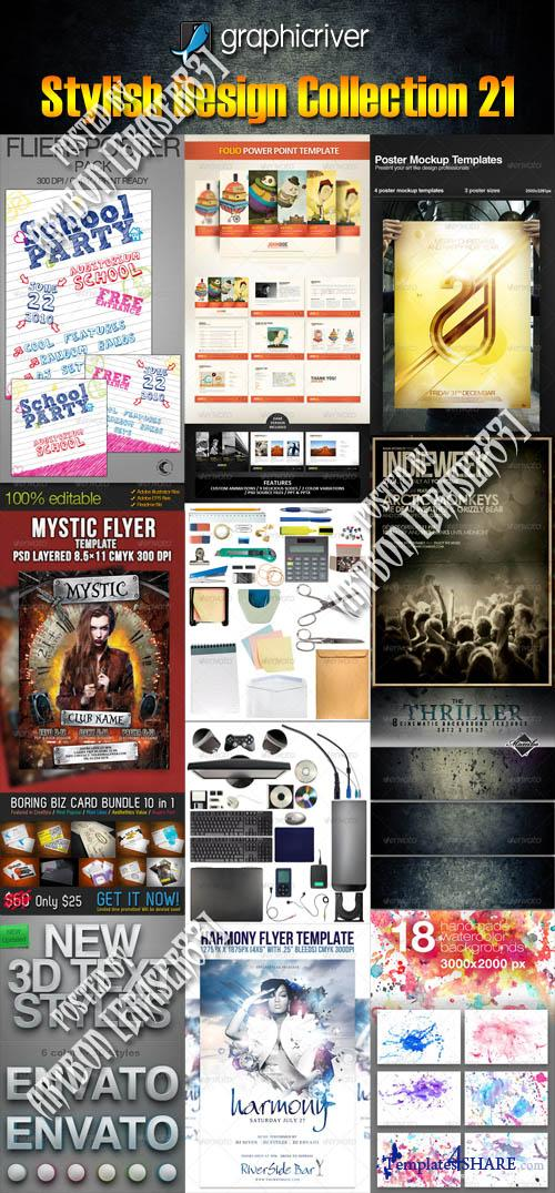 GraphicRiver Stylish Design Collection 21