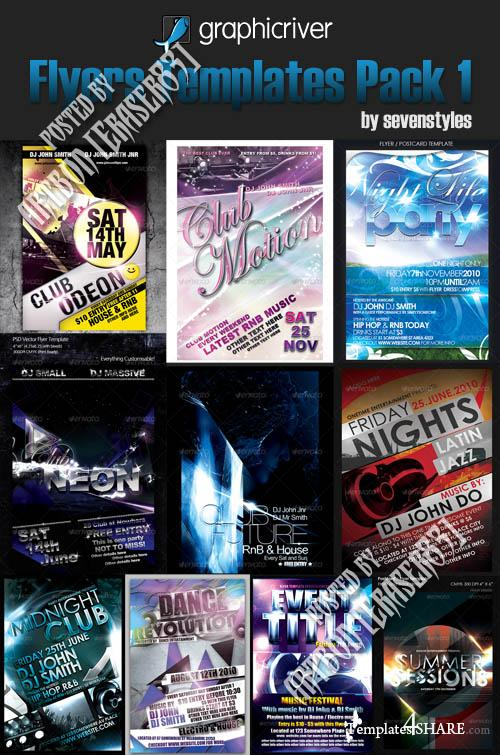GraphicRiver Flyers Templates Pack by sevenstyles (Volume 1)