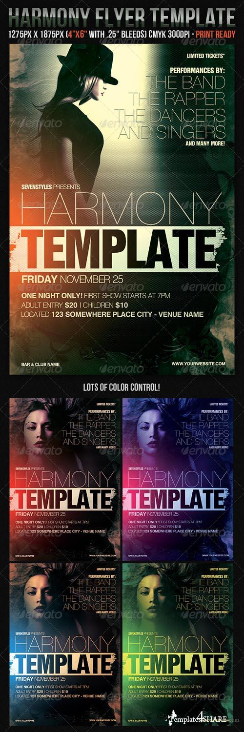 Graphicriver Harmony Flyer Template