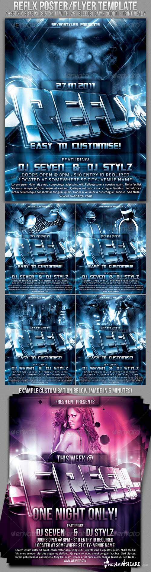 Graphicriver Reflx Poster/Flyer Template