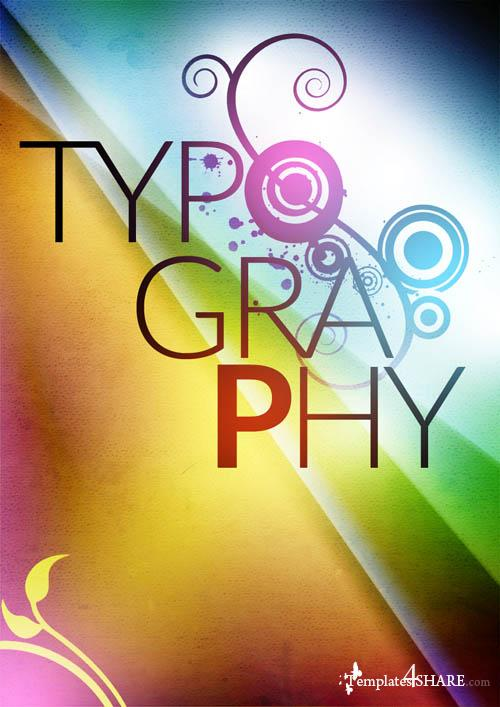 Typographic Poster Free .PSD