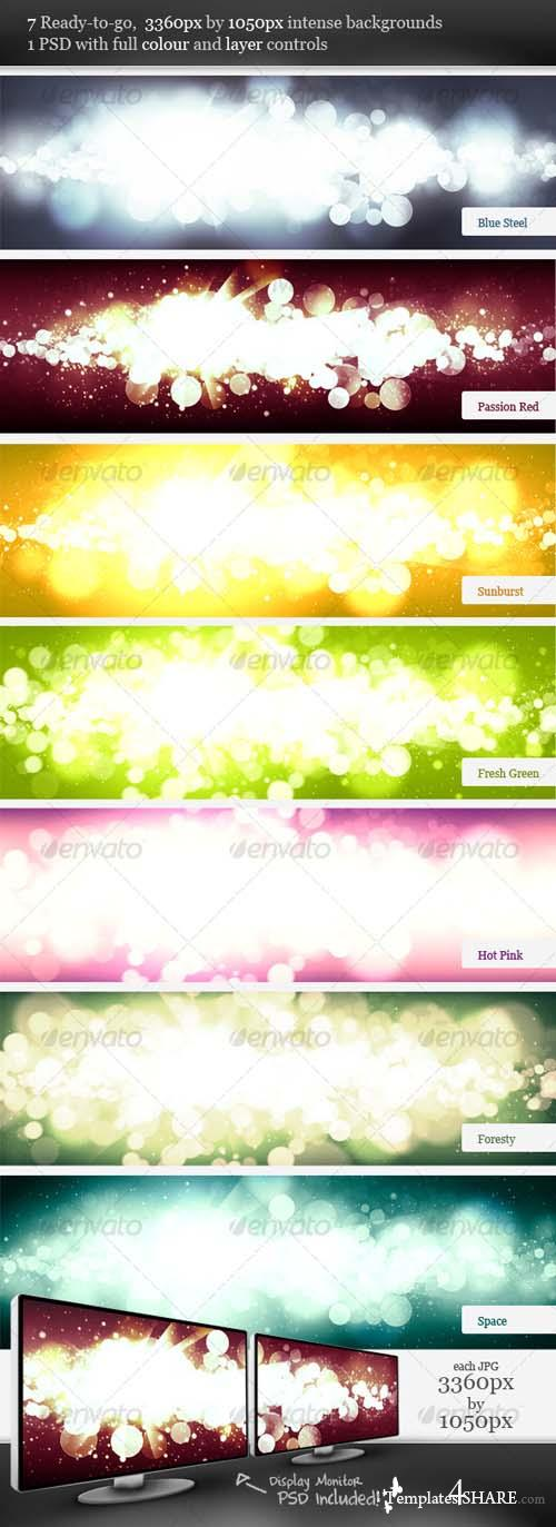 Graphicriver Intense Flare Burst Backgrounds