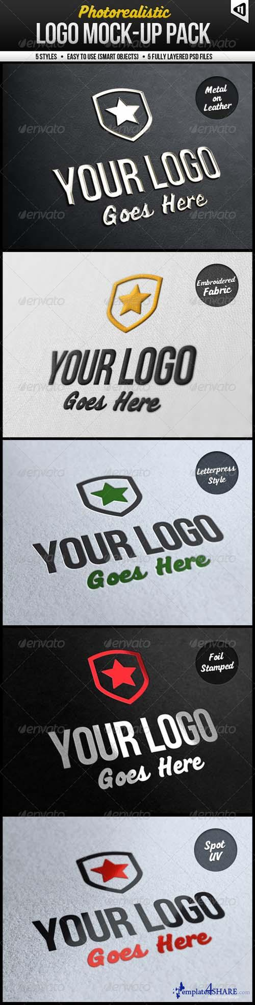 Graphicriver Photorealistic Logo Mock-Up Pack