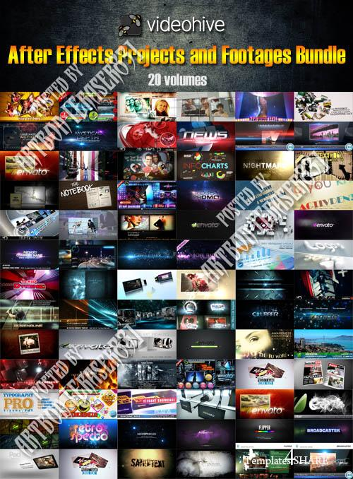 Videohive Projects for After Effects and Footages Bundle (20 Volumes)