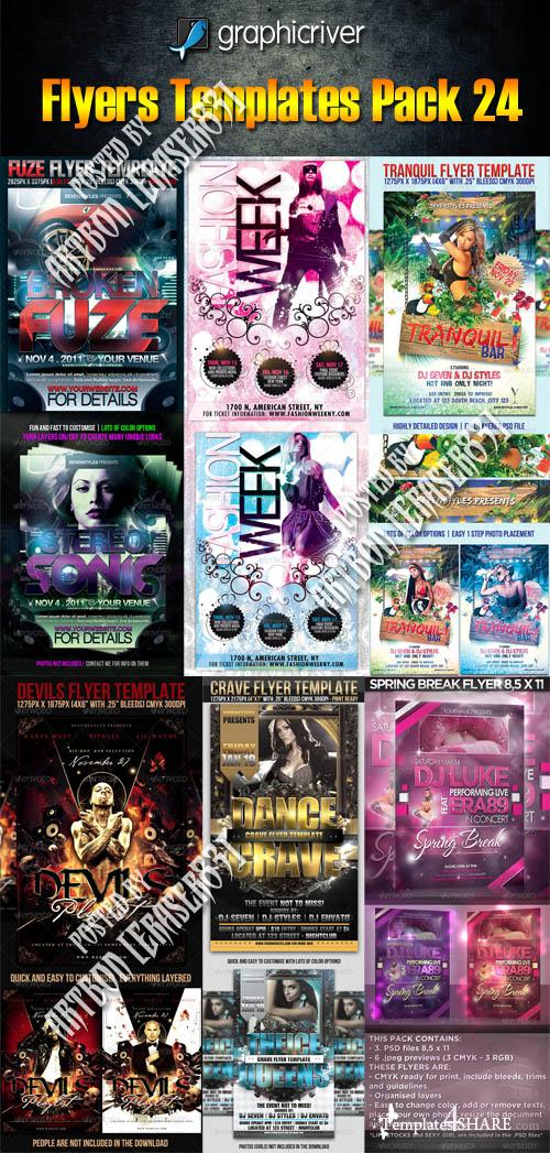 GraphicRiver Flyers Templates Pack 24
