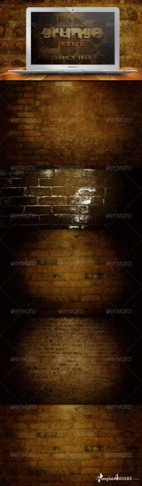 Graphicriver 10 Grunge Brick Backgrounds