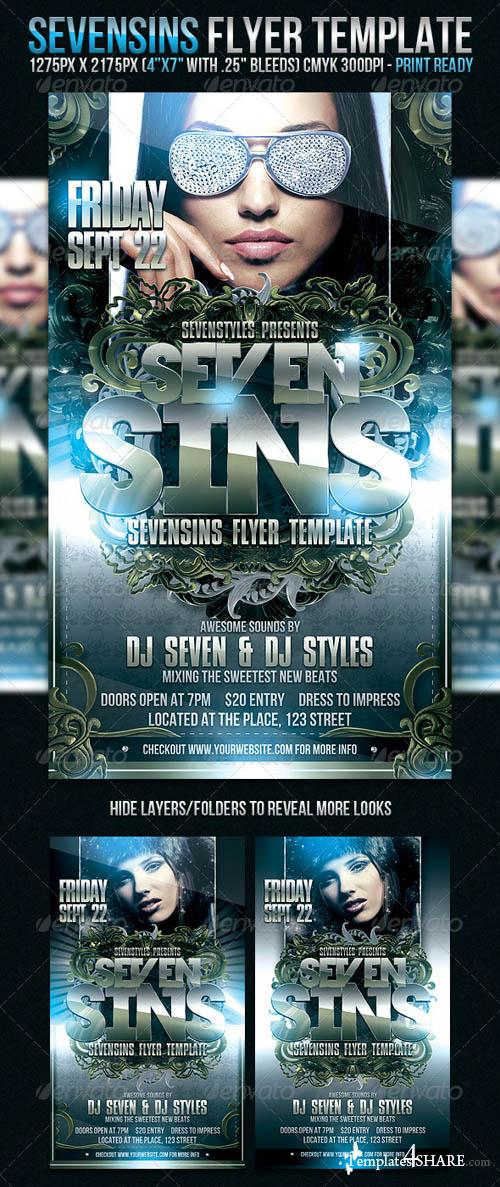 GraphicRiver SevenSins Flyer Template