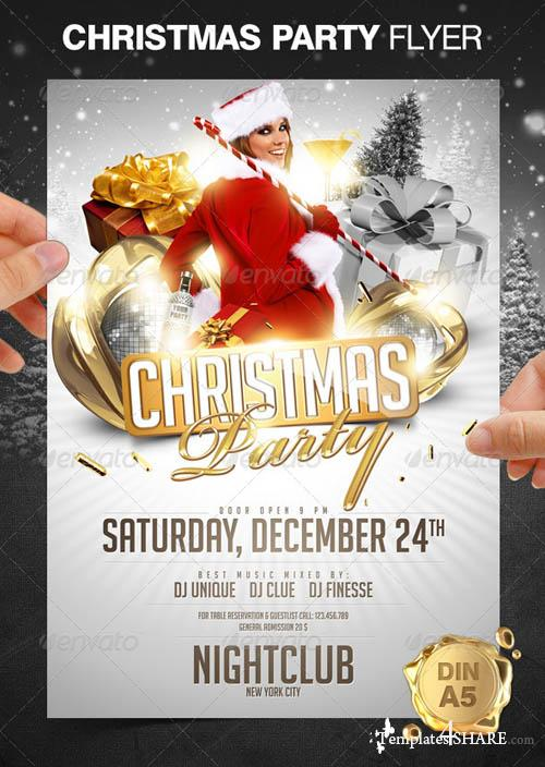 GraphicRiver Christmas Party Flyer