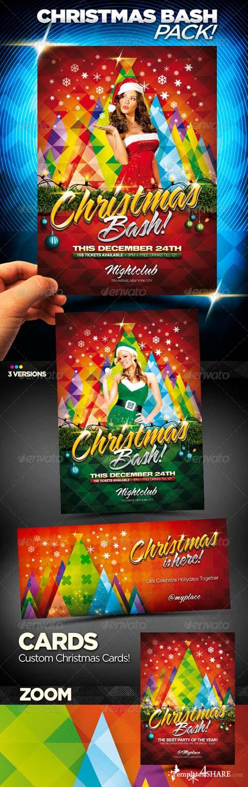GraphicRiver Christmas Bash Party Flyer Pack