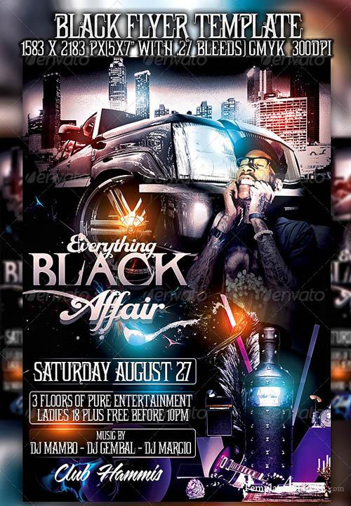 GraphicRiver Everything Black Flyer Template