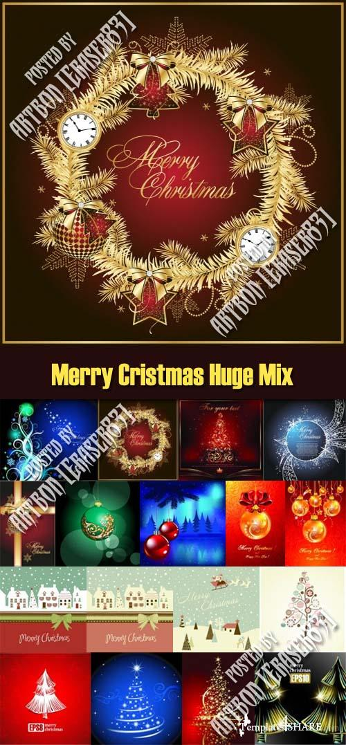 Merry Cristmas Huge Vector Mix