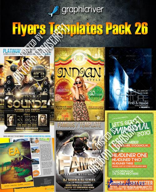 GraphicRiver Flyers Templates Pack 26