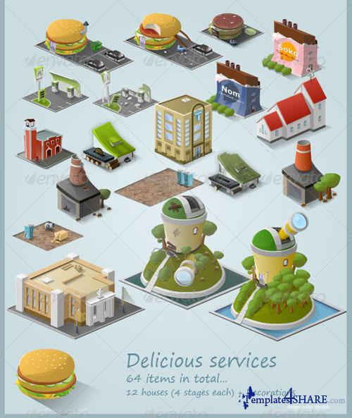 GraphicRiver Stylised Building Icon Pack (64 items) - Part 3