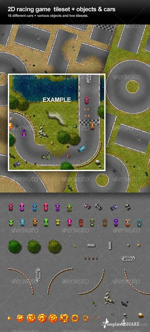 GraphicRiver 2D Racing Game Tileset
