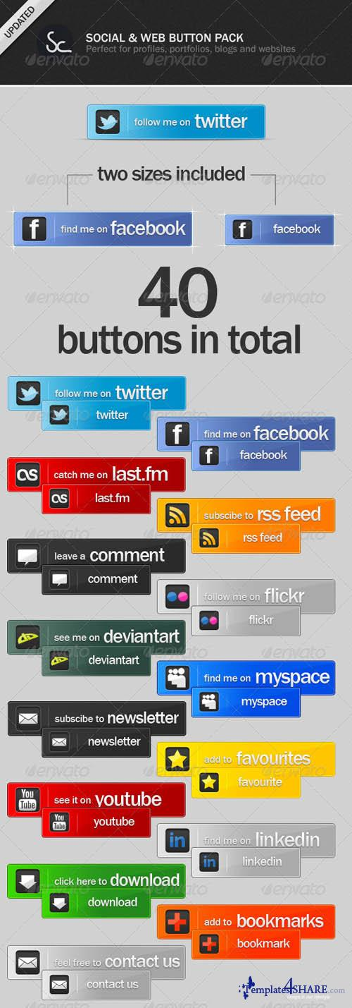 GraphicRiver Social and Web Buttons Pack