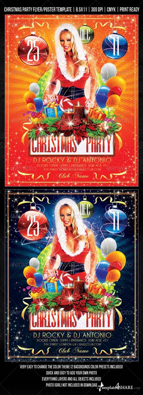 Christmas Party / Concert Flyer / Poster Design 752245 - GraphicRiver