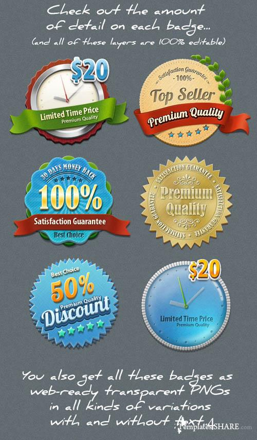 Premium Badges - PSD Template