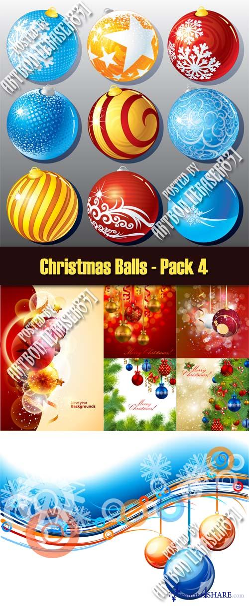 Vector Christmas Balls - Pack 4