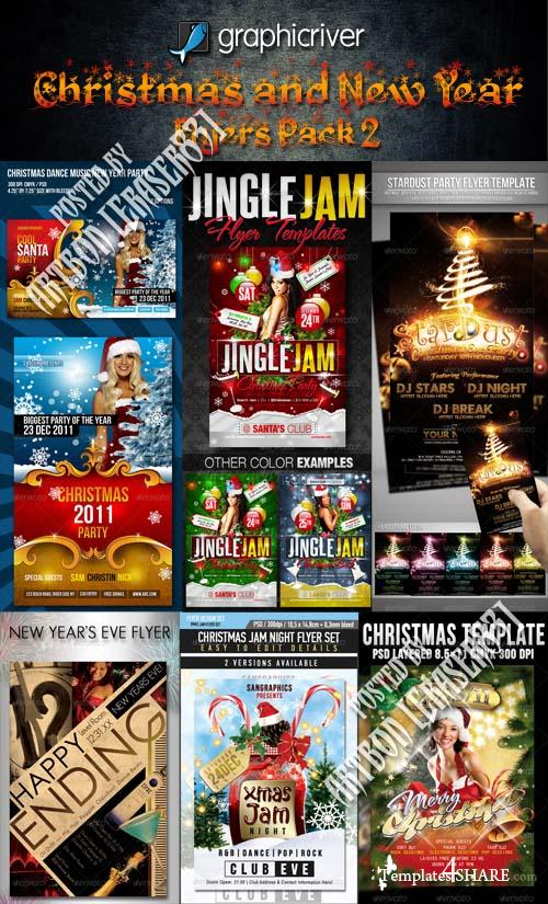 GraphicRiver Christmas and New Year Flyers Pack 2
