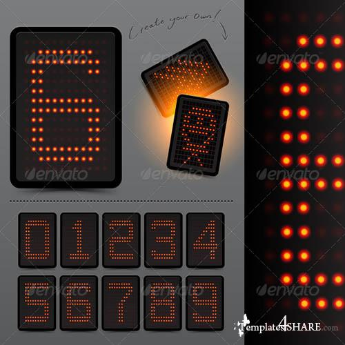 GraphicRiver Digital LED Scoreboard Numbers