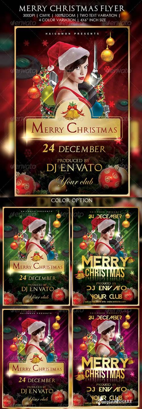 Merry Christmas Flyer 705811 - GraphicRiver