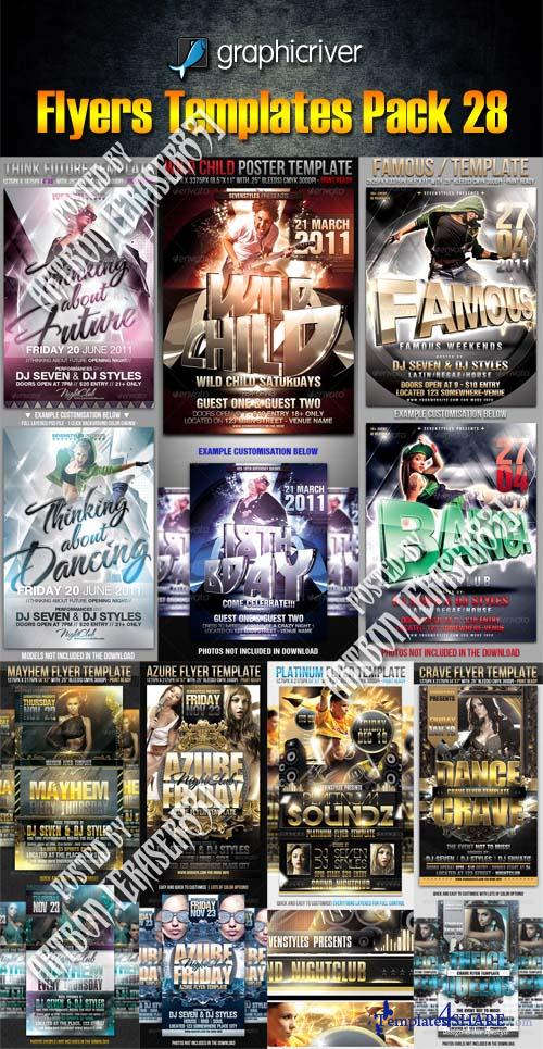 GraphicRiver Flyers Templates Pack 28