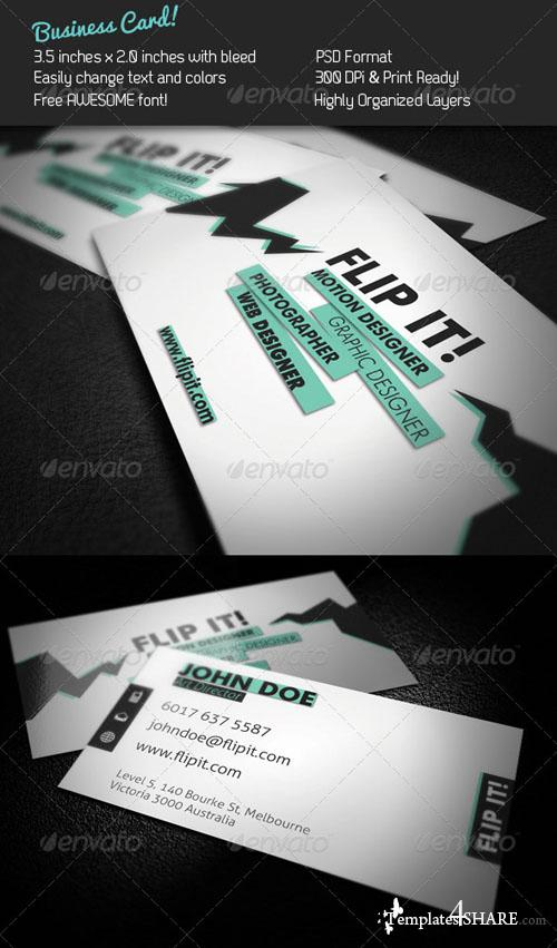 FLIP IT! Business Card 241162 - Graphicriver