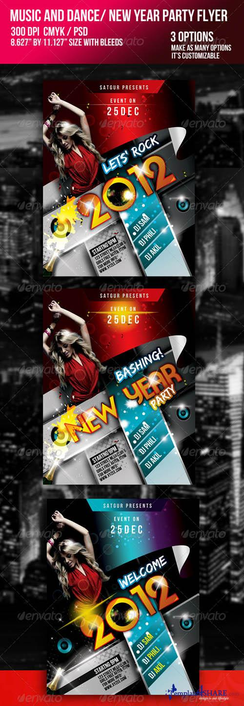 2011 New Year Dance Music Party Night Flyer 723652 - GraphicRiver