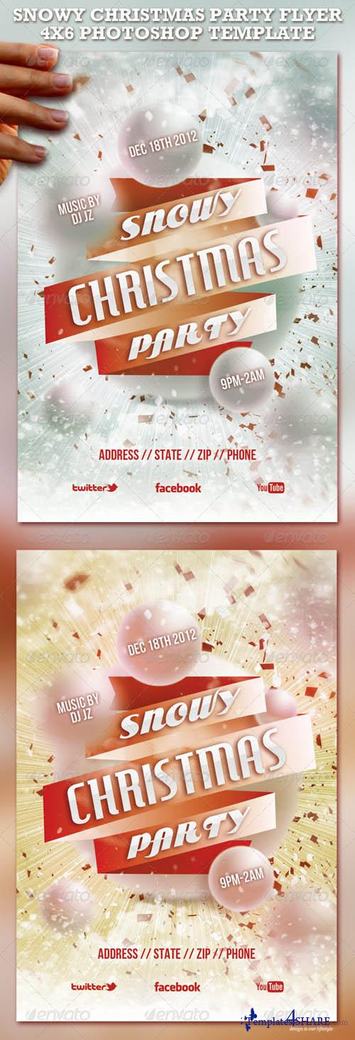 Snowy Christmas Party Flyer Template 851926 - GraphicRiver