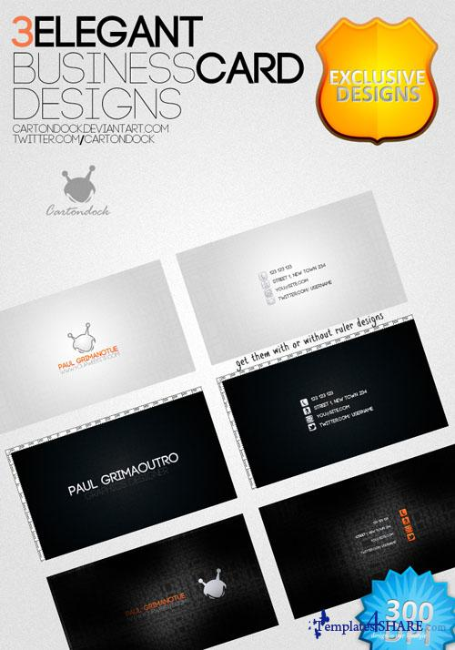 Elegant Business Card Designs - PSD Templates