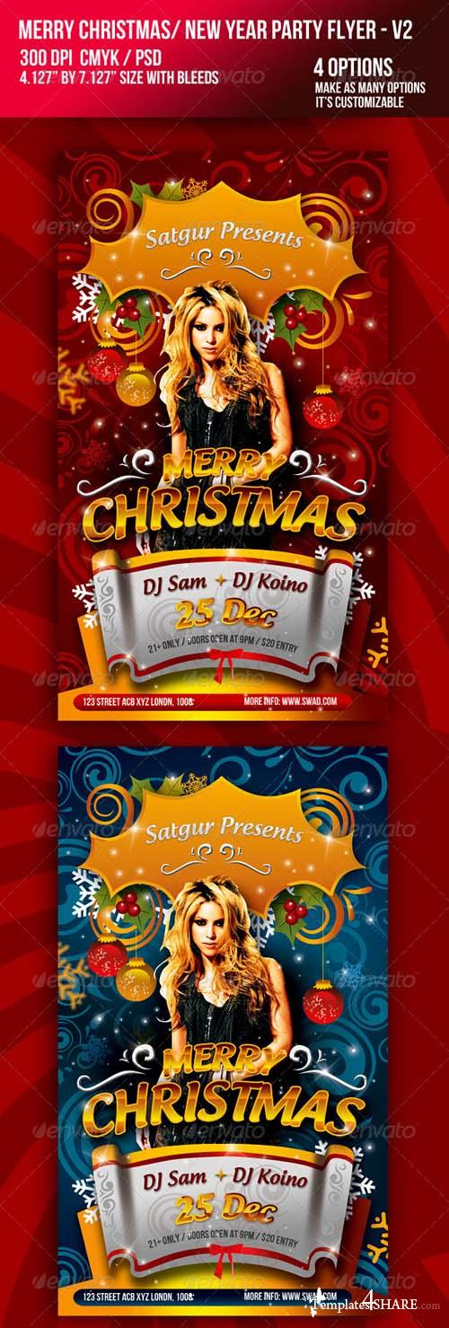 Christmas / New Year Music Dance Party Night Flyer - V2 759163 - GraphicRiver