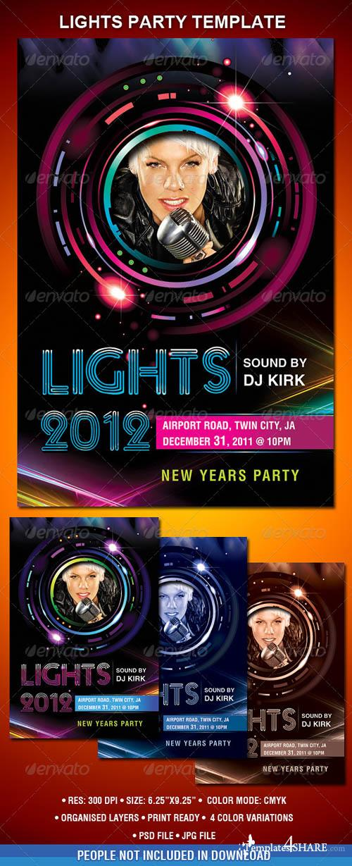 New Year's Party Flyer 808176 - GraphicRiver