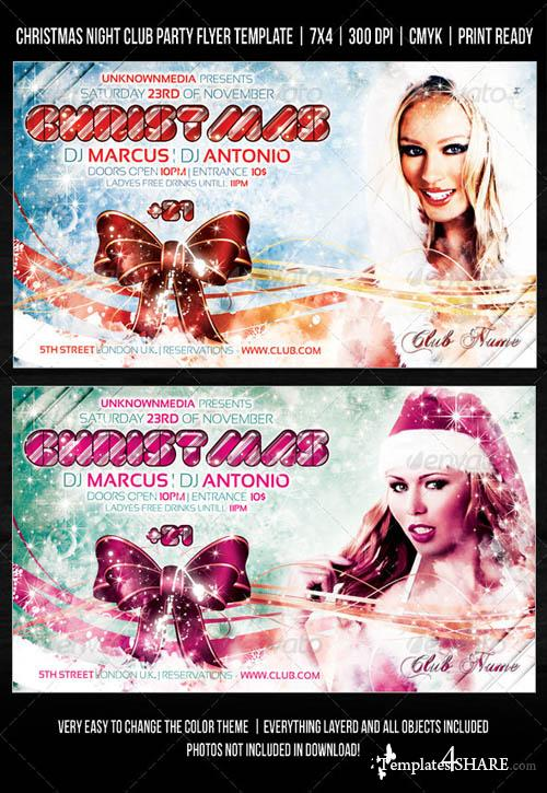 Christmas Night Club Party / Concert Flyer V2 715594 - GraphicRiver