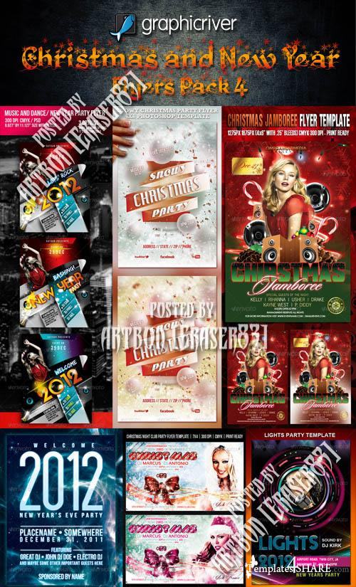 Christmas and New Year Flyers Pack 4 (GraphicRiver)